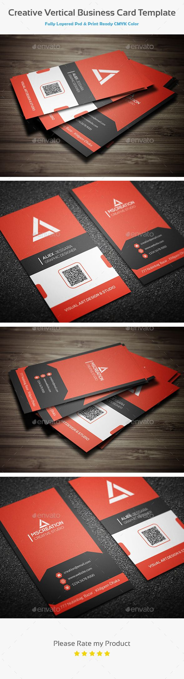 Best 25 vertical business cards ideas on pinterest business creative vertical business card template magicingreecefo Images