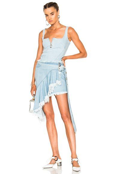 Frill Wrap Buckle Belt Skirt