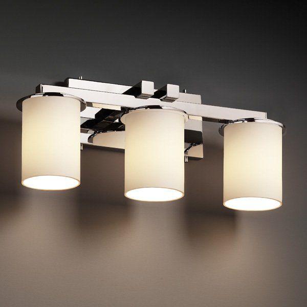 Justice Design Group FSN-8773-10 3 Light Fusion Dakota Dimmable Fluorescent StraightBar Bathroom & 417 best Lighting images on Pinterest | Floor lamps Lighting ... azcodes.com