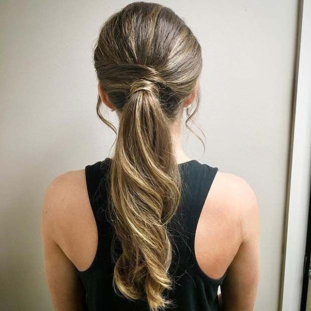 Pretty Wrap Around Ponytail For Elegant Ponytail Hairstyles Beauty Haires Eleganter Pferdeschwanz Pferdeschwanz Frisuren Elegante Frisuren