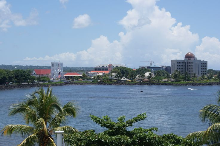 #Travel: View over harbour from Aggie Grey Hotel, #Apia, #Upulu, #Samoa. Photo: D Rudman