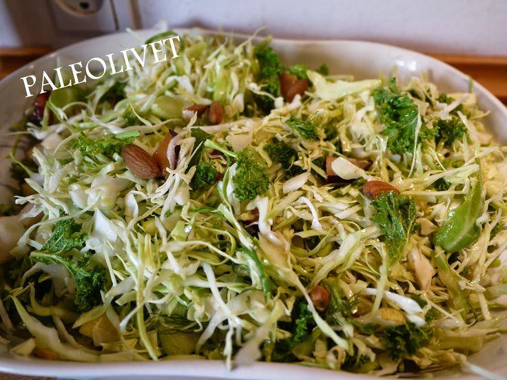 Top lækkert tilbehør i form af en salat, jeg serverede til en grillet øko-svinemørbrad. Stor succes.  Eneste krav er at du skal have lidt ...