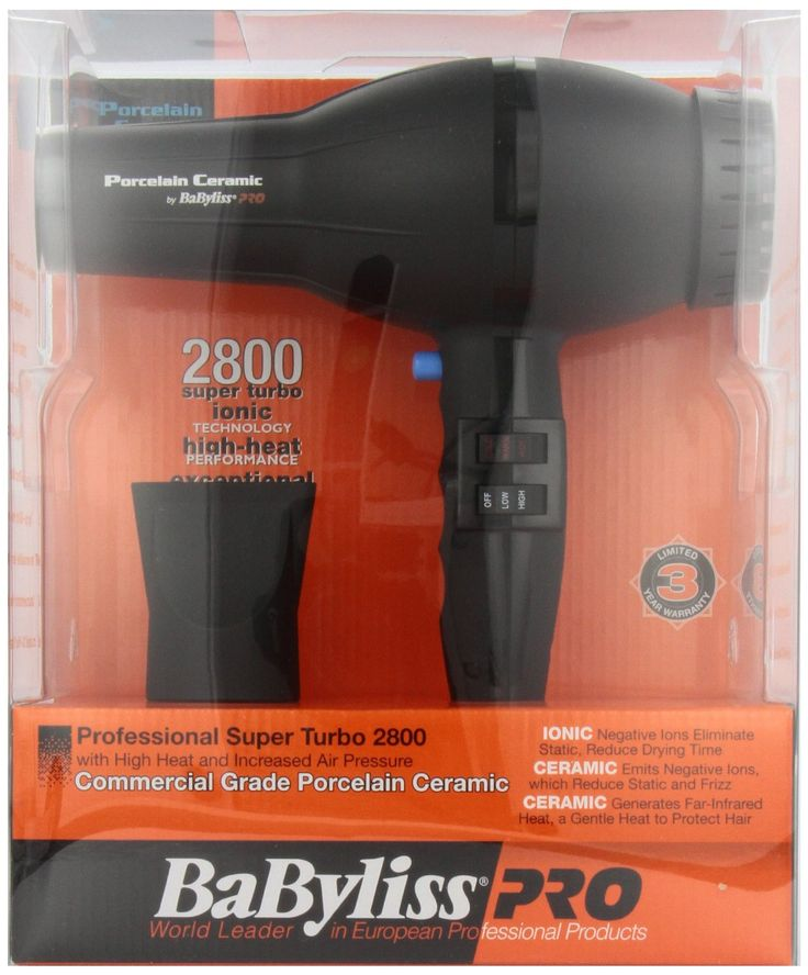"""BaByliss Pro BABP2800.  """"This hair dryer dried my hair much faster than my old one, and also gave it A LOT more volume. I think it was a really good value. It is a little heavy, but that doesn't bother me."""" Find it at http://remyvirginhairstyles.com/hairProducts.html"""