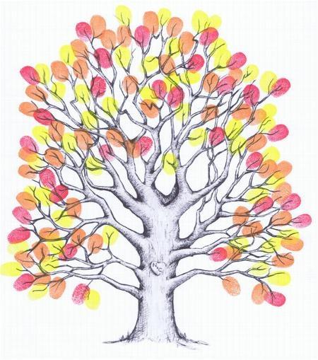 Small Fingerprint Live Oak Tree Wedding Guest Book Hand Drawn: 65 Best Fingerprint Art Images On Pinterest