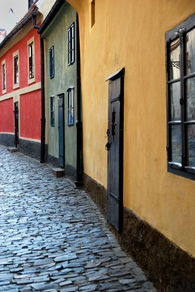 Jana's favourite part of Prague in Take Me to the Castle - Golden Lane. Kafka also lived here.