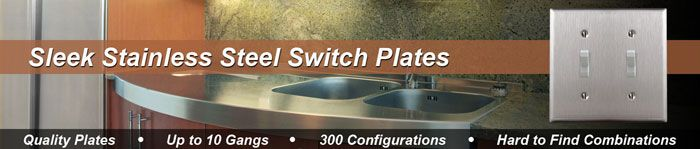 Satin Stainless Steel Switch Plates & Outlet Covers in 200+ Sizes