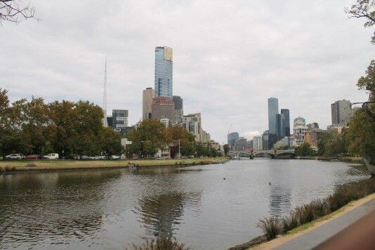 Melbourne...view to the city on the Yarra river