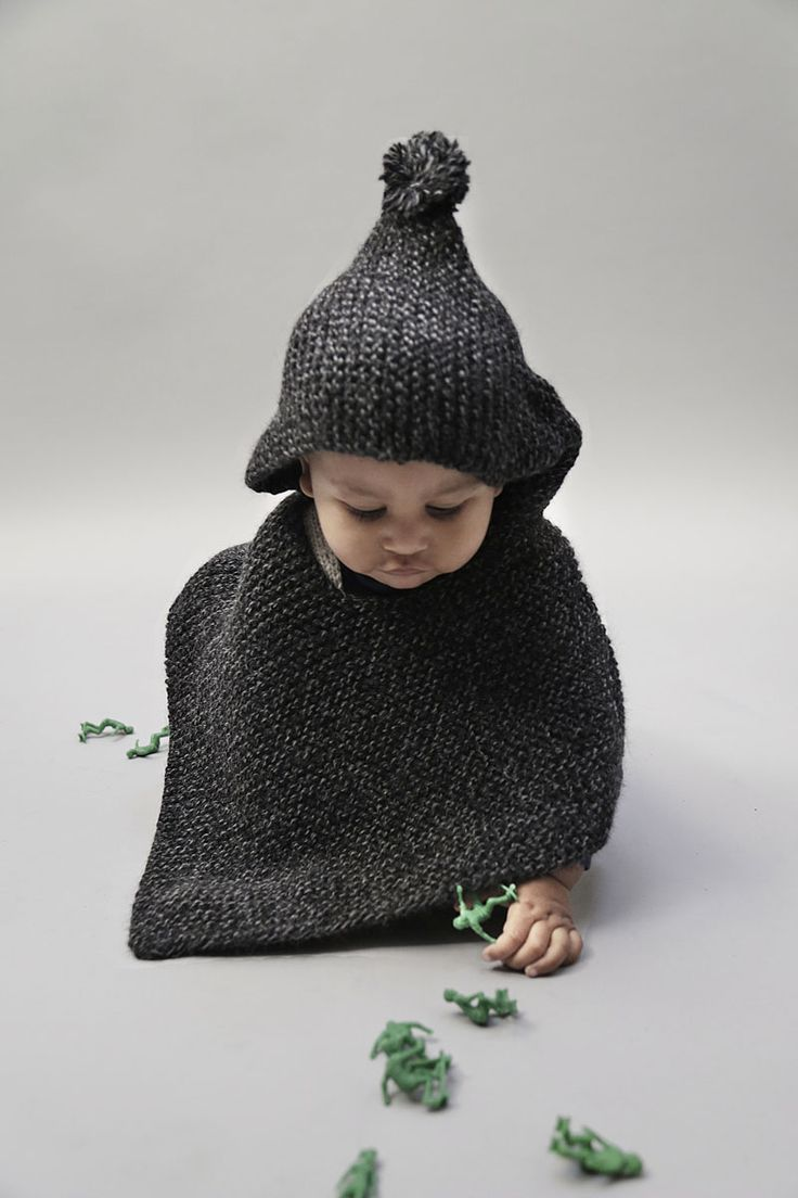 Prince Poncho by Wool and the Gang Baby Gang | Buy it or knit it #poncho #knitting #baby