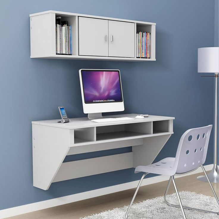 Prepac Designer Floating Desk With Optional Hutch   White   The Prepac  Designer Floating Desk With Optional Hutch   Black Is Perfectly Suited For  Any Home ...