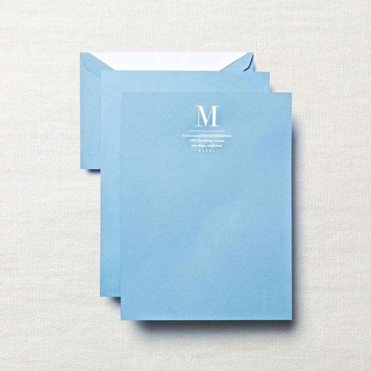 Personalized Hand Engraved Dalton Blue Sheet