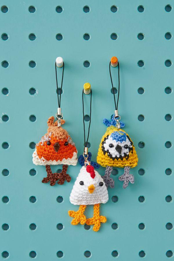 Crochet amigurumi birds by Crafty Queens, ༺✿ƬⱤღ✿༻