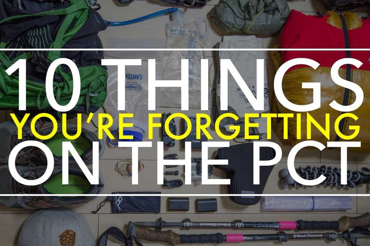 As much as I want all of you to believe that you're taking far too much with you on the Pacific Crest Trail, there are probably some small items that you're overlooking in your search for the ultimate PCT gear list. Strangely enough, it turns out a lot of the items you're forgetting are generic …