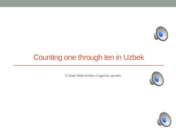 Teaching counting in uzbek language is made easier with this prerecorded powerpoint presentation. All you do is click play, listen, watch and learn!