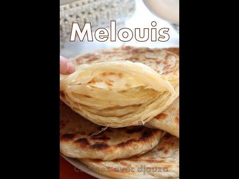 Recette des Meloui facile / round puff pancakes/طريقة تحضير ملوي مورق بطريقة جد سهلة - YouTube