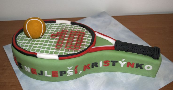 Tenisová raketa pro malou tenistku. Tennis Racket Cake.