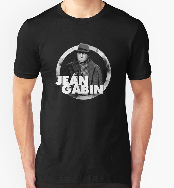 Jean Gabin - french actor cult star classic cinema film movies icon 30s 40s 50s 60s alain delon lino ventura jean paul belmondo france la grande illusion le clan des siciliens jean renoir la bête humaine simone simon marcel carné T-Shirt Design von adriangemmel