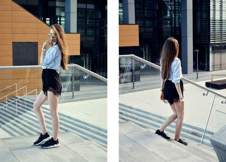 #fashion #legs #heels #szpilki #kombinezon #minimalizm #minimalism #black #hair #nike