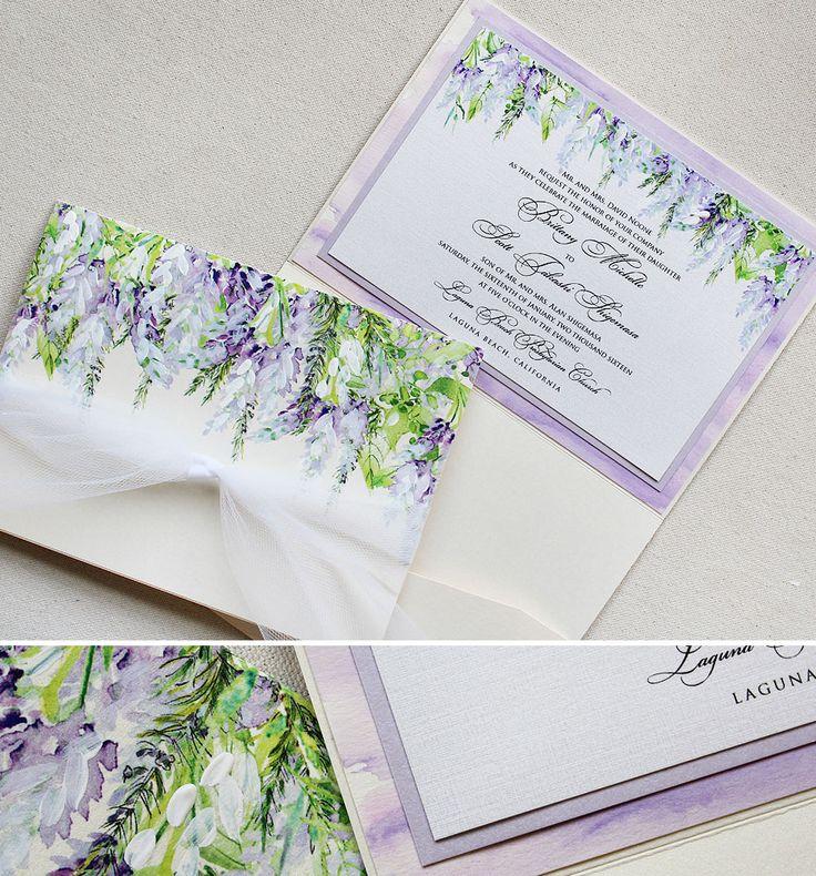 Good Brittany N.   Lavender Wisteria Wedding Invitations