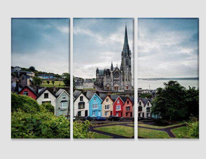 Cobh Cathedral In Ireland Canvas Art Irish Wall Art Irish Etsy Irish Wall Art Irish Architecture Architecture Ireland