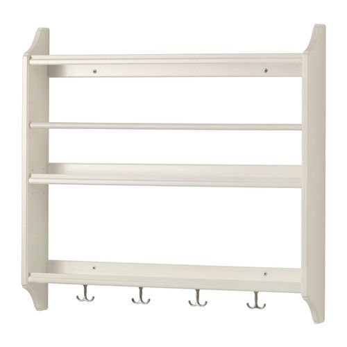 Plate Shelf ~ Ikea, use for low profile display and light hanging in main room or closet