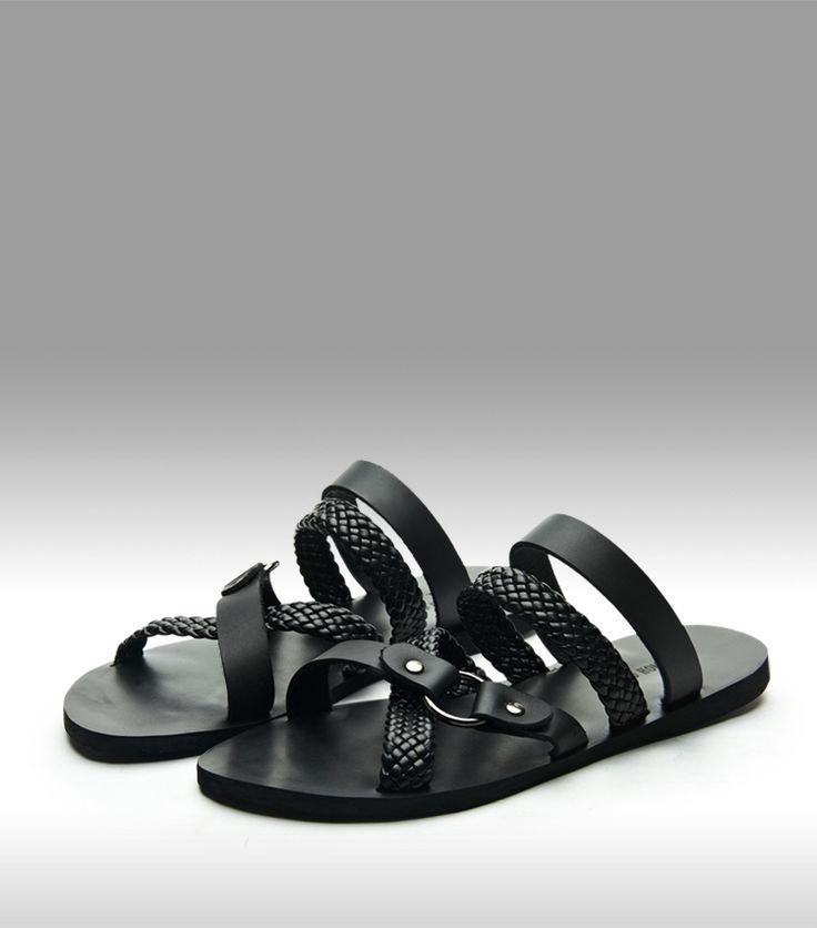 Homme zapatillas de verano de Hombres sandalias negras zapatos son de cuero de pie de los hombres zapatos zapatillas de Playa sandalias de plataforma zapatos de los hombres en Sandalias de los hombres de Zapatos en AliExpress.com | Alibaba Group