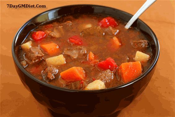 Beef and Vegetable Soup on Day 6 GM Diet