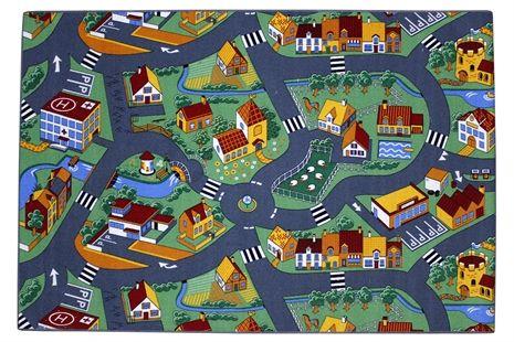 Little Village, Matta, 95 x 200 cm Mattor Textilier Barnrum på nätet hos Lekmer.se