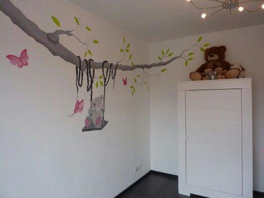 25 beste idee n over kinderdagverblijf muurschilderingen op pinterest babykamer - Deco muurschildering ...