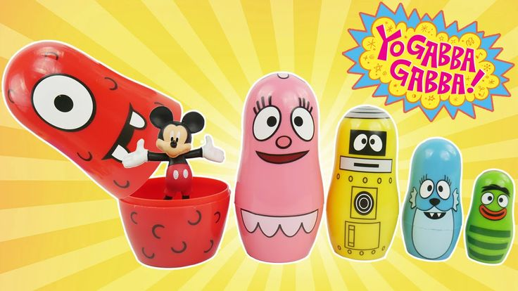YO GABBA GABBA Toys Best Kid Learning Video Learn Colors Nesting Poupées Russes Paw Patrol PJ Masks. These Preschool Kid learning toys are one of the best toys for learning colors sorting and stacking. This is an educational learning video for preschool kids toddlers babies and children to learn colors. We also find toy surprise eggs from Disney Mickey Mouse PJ Masks Pokemon Go Pikachu and Paw Patrol Chase.  Nesting Dolls and Stacking Cups are also called 요 가바 가바 플레이도 babushka's doll…