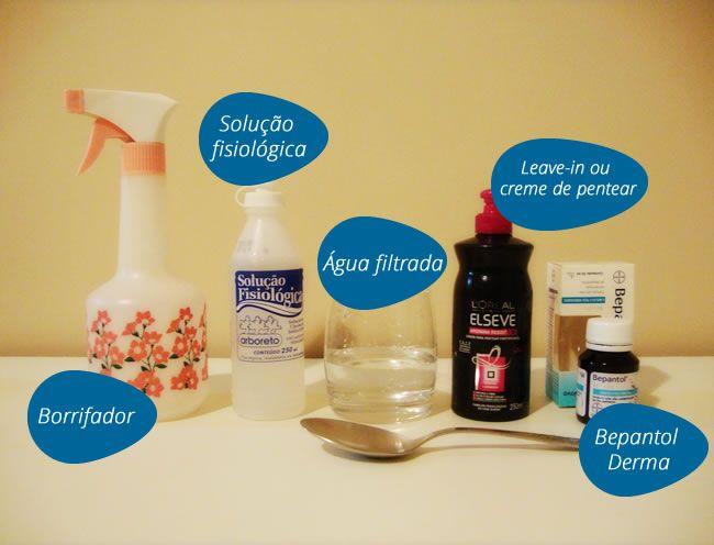 Para facilitar, misture todos os ingredientes em um copo (não precisa ser de wisky como na foto :P), depois coloque no borrifador usando um funil.