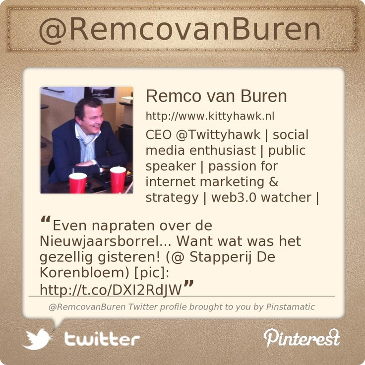 @RemcovanBuren's Twitter profile courtesy of @Pinstamatic (http://pinstamatic.com)