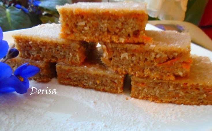 Mrkvový koláč zo špaldovej múky