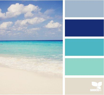 Beach color palette for my website and Belmar tourism blog | Blue Hydrangea Beach Cottage | www.vacationinbelmar.com