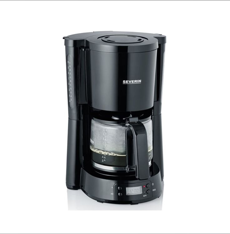Severin K4818 10 Cup Filter Coffee Maker Digital Timer Function Activates The Brewing Process Effective He In 2020 Filter Coffee Machine Filter Coffee Coffee Machine