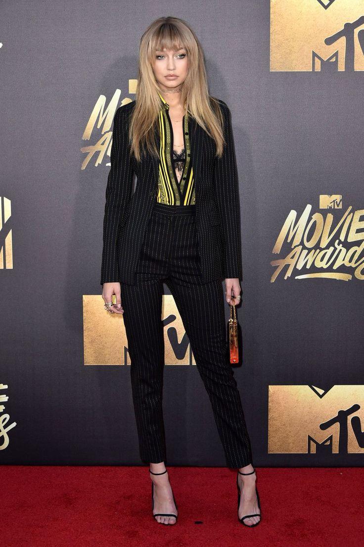 Gigi Hadid in Versace at the MTV Movie Awards 2016 [Photo: Rob Latour]