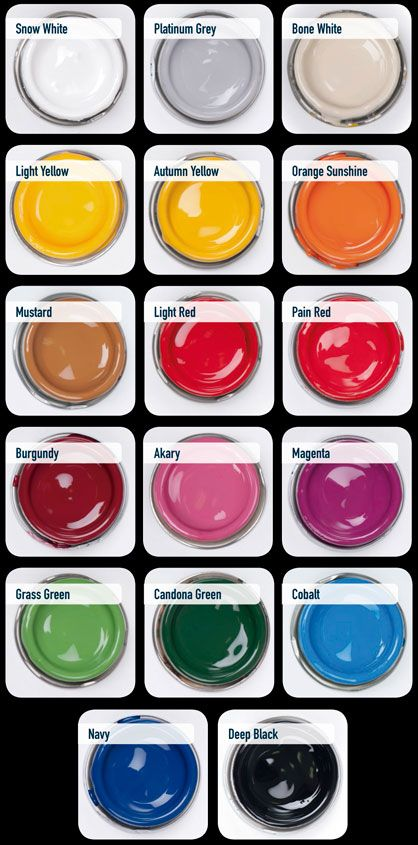 Pormoción de Enamel/Esmaltes de pinstirping 5 x4 en colores sólidos.