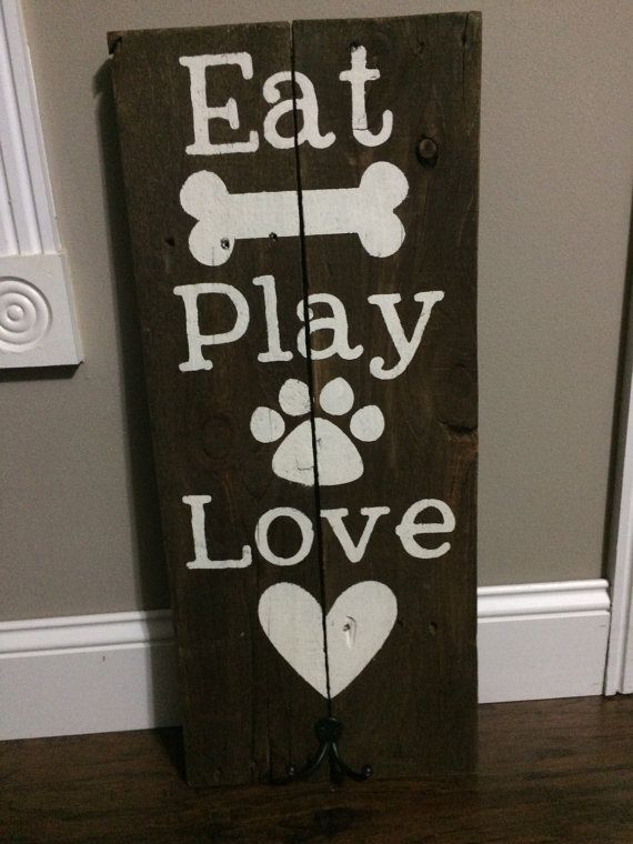 Hey, I found this really awesome Etsy listing at https://www.etsy.com/listing/237900067/pet-sign-w-hooks-for-leash