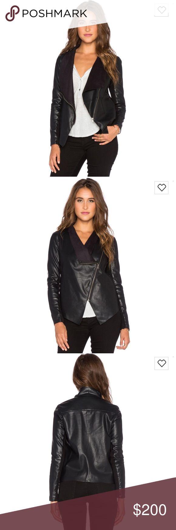 "BB Dakota ""Bradford"" Jacket Polyurethane blend, zip front closure, side seam pockets, rib knit sleeve panels. Brand new condition. BB Dakota Jackets & Coats"