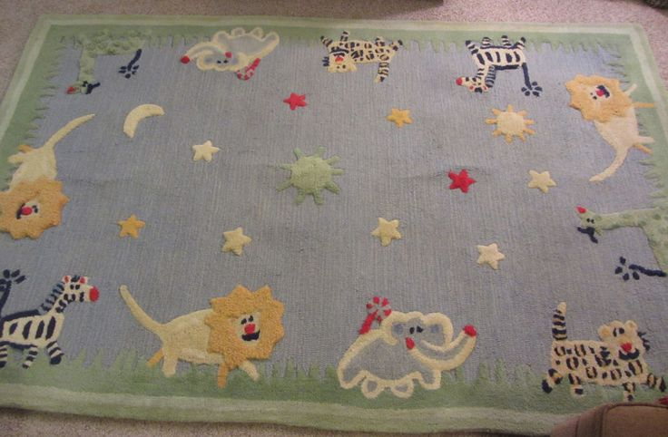 Pottery Barn Kids Animal Rug 5 X 8 Rectangle Nursery