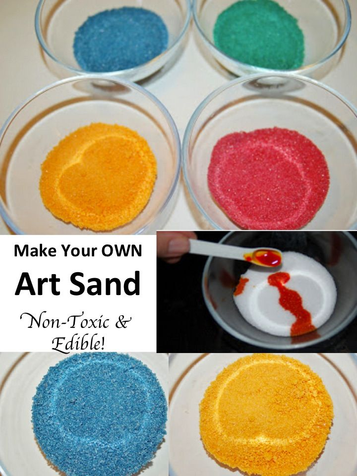 DIY Make Your OWN Art Sand Recipe - this Non Toxic & Edible idea will save me a bundle in the classroom on diy art supplies!