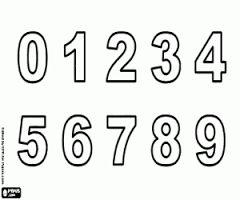 Resultado de imagen para numeros para colorear