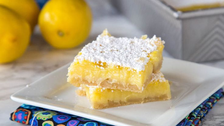 These creamy, tart lemon bars call for just five simple ingredients and 10 minutes to prep thanks to an easy sugar cookie crust.