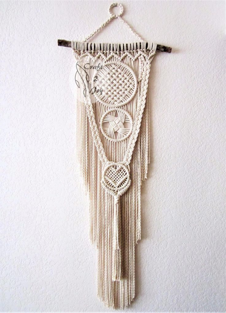 1069 Best Micro Macrame Wall Art Images On Pinterest