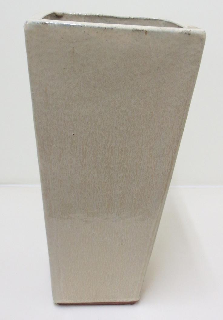 Pot Glazed Tuscan Path 33x70cm Tall Sq Milky White - Bunnings Warehouse