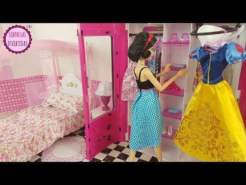 Blancanieves Dormitorio de muñeca con Armario de juguete Barbie y el príncipe Encantador - YouTube