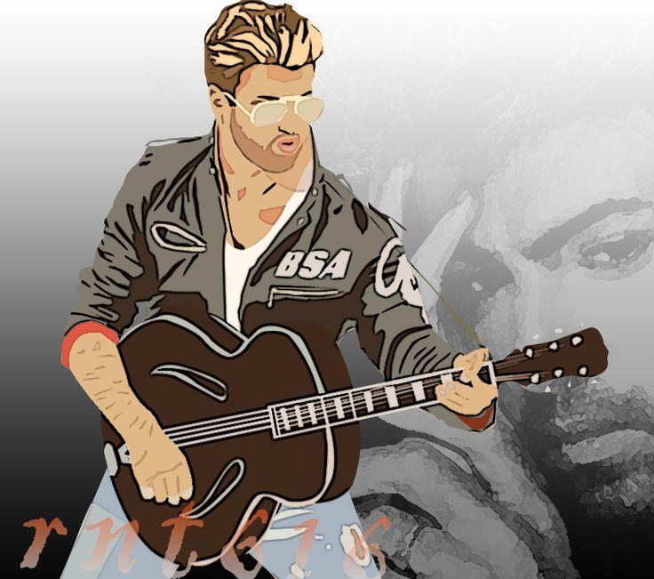 george michael graphic artwork