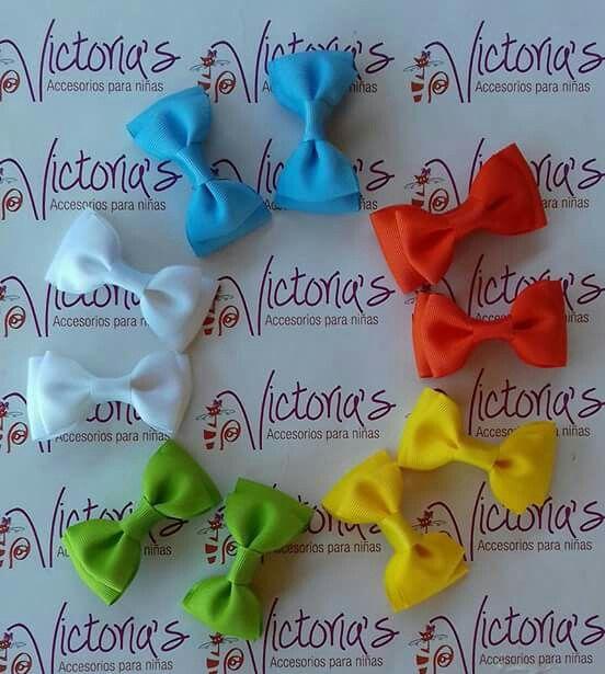 Pinzas  en cinta multicolores en 32 tonos para las princesas  nuestro hogar.