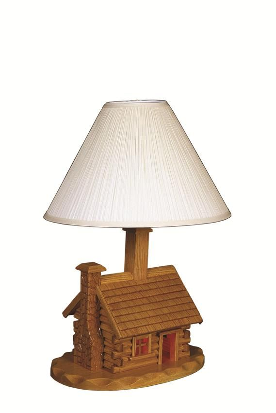 Amish Log Cabin Lamp With Shade Amish Shades And Lamps