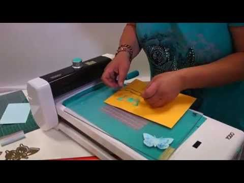 Hot foil butterfly embellishments using the Create and Craft TODO - YouTube