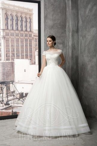 BB1510. This gorgeous new style by designer lryna Kotapska has just arrived in store. Beautiful lace detail on the bodice. Come and visit us in Albany Village to see more.